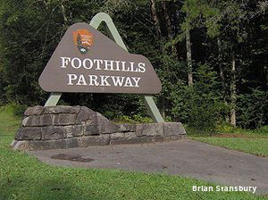 photo of Foothills Parkway sign by Brian Stansbury
