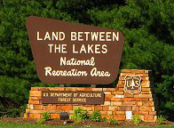 photo of Land Between the Lakes road sign